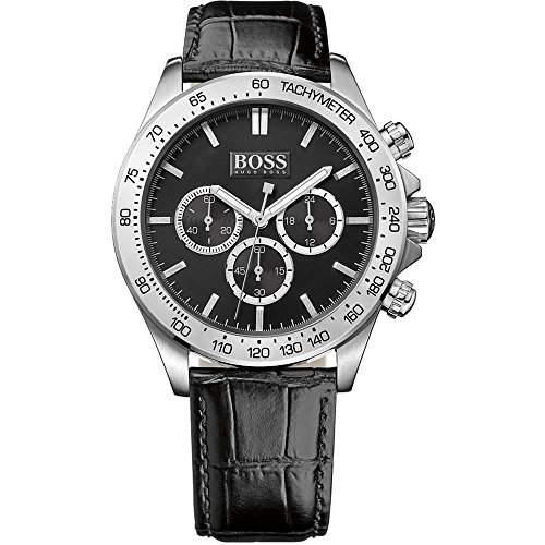Hugo Boss Herren-Armbanduhr Chronograph Quarz Leder 1513178