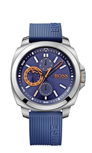 Hugo Boss Brisbane Blau Zifferblatt SS Silikon Multi Quarz Herren Armbanduhr 1513102 von Hugo Boss