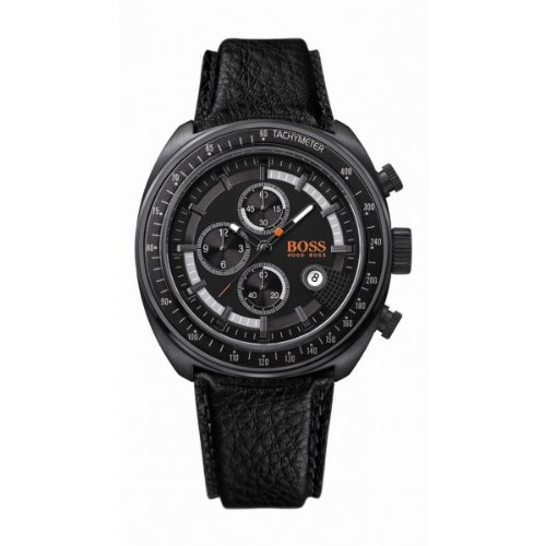 Hugo Boss Analog Leder schwarz 1512377