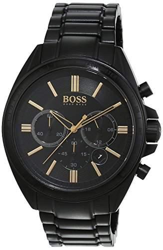 Hugo Boss Herren-Armbanduhr Chronograph Quarz Edelstahl 1513277