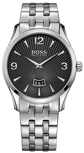 BOSS Analog Quarz One Size schwarz silber 1513429