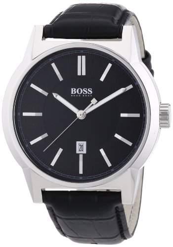 Hugo Boss Herren-Armbanduhr ARCHITECTURE ROUND Analog Quarz Leder 1512911