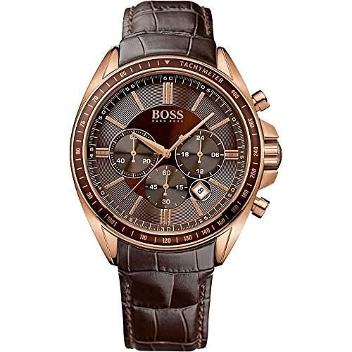 Hugo Boss Herren-Armbanduhr XL Chronograph Quarz Leder 1513093