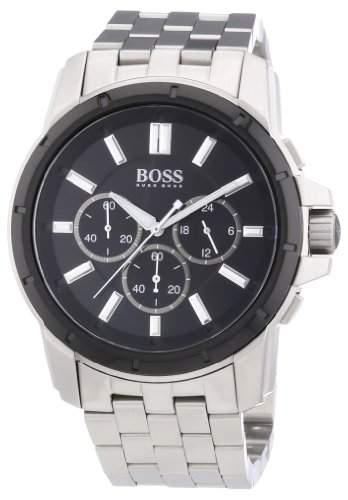 Hugo Boss Herren-Armbanduhr XL Analog Quarz Edelstahl 1512928