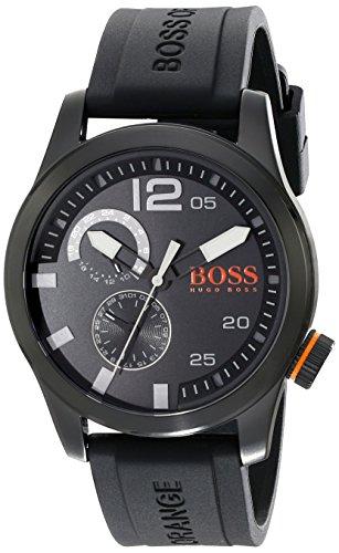 BOSS Orange Herren 1513147 Paris Analog Display Japanisches Quartz Black Watch
