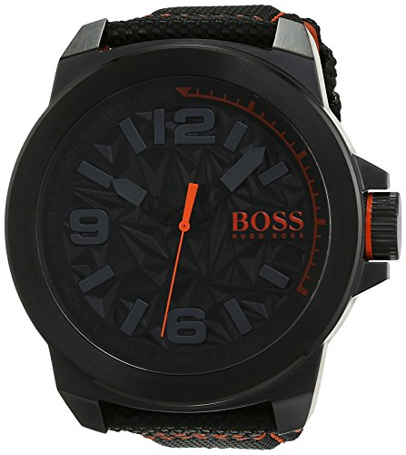 BOSS Orange Herren Armbanduhr NEW YORK Analog Quarz Textil 1513343
