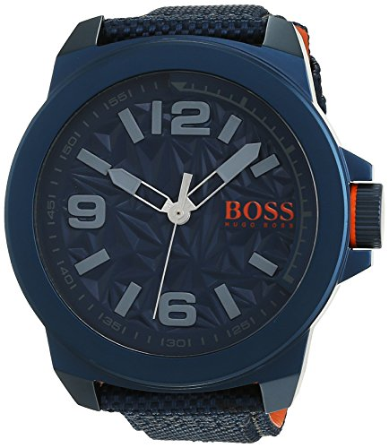 BOSS Orange Herren Armbanduhr NEW YORK Analog Quarz Textil 1513353