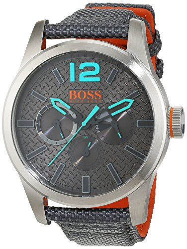 BOSS Orange Herren Armbanduhr PARIS Analog Quarz Textil 1513379