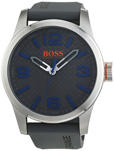 BOSS Orange Herren Armbanduhr PARIS Analog Quarz Silikon 1513349