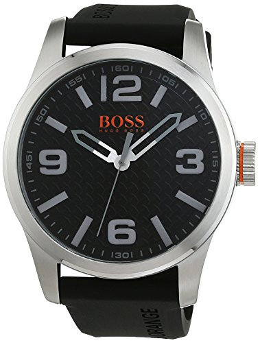 BOSS Orange Herren Armbanduhr PARIS Analog Quarz Silikon 1513350