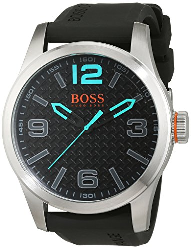 BOSS Orange PARIS Analog Quarz Silikon 1513377