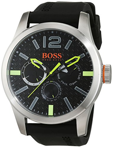 BOSS Orange Herren Armbanduhr PARIS Analog Quarz Silikon 1513378