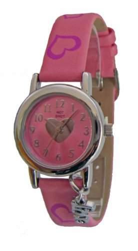 Hot Shot Maedchen-Armbanduhr Kinderuhr Love Analog Quarz Rosa 949
