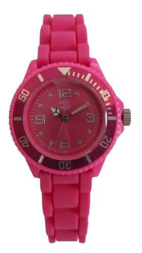 Hot Shot Maedchen-Armbanduhr Analog Quarz Silikon Pink 1047GGR