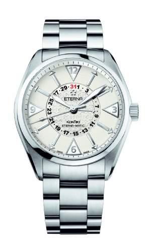 Eterna Herren 159241110217 Kontiki Edelstahl Four-Hands Uhr