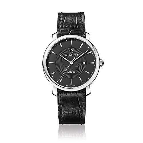 Eterna Damen-Armbanduhr Artena Analog Quarz Leder 251041411251