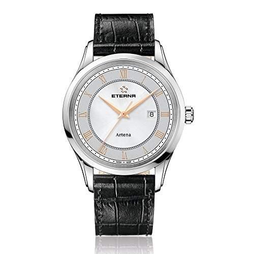 Eterna Herren-Armbanduhr Artena Analog Quarz Leder 252041561258
