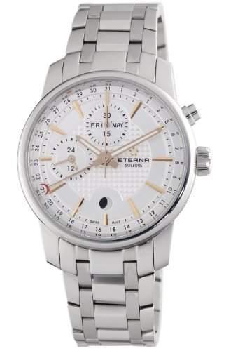 Eterna Herren 834041181225 Soleure Moonface Multifunktions-Chrono Uhr