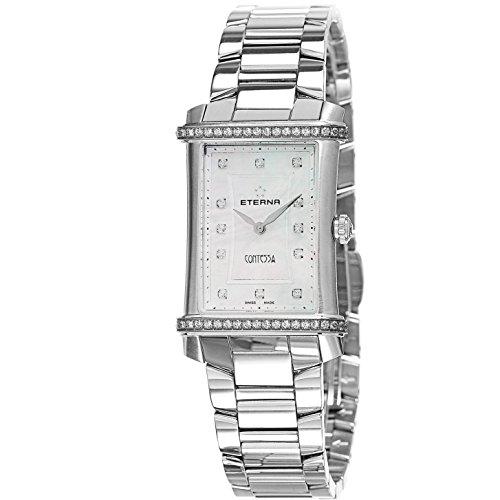 Eterna Contessa Damen Armbanduhr Armband Edelstahl Gehaeuse Batterie Zifferblatt Perlmutt 2410 4867 0264