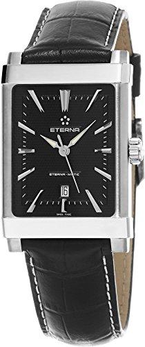 eterna 1935 eterna matic Damen schwarz Lederband Schweizer Automatik Uhr 8491 41 41 1117d