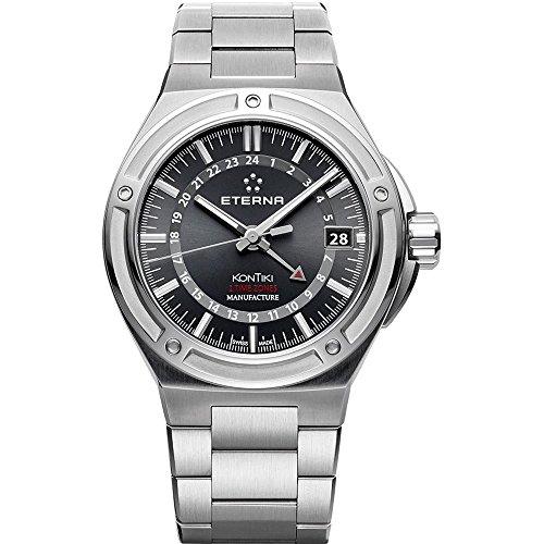 Eterna Royal KonTiki Uhr Eterna 3945 A Schwarz Stahlband 7740 41 41 0280