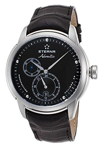 Eterna Adventic Herren Armbanduhr 44mm Armband Aligatorleder Gehaeuse Edelstahl Automatik 7660 41 46 1273