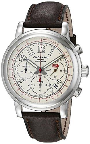 Chopard Herren 168511 3036 LBR Edelstahl Uhr mit Braun Band