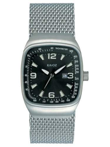 KA:OZ Herren-Armbanduhr Analog Quarz Edelstahl Kalender A1462-1S5I