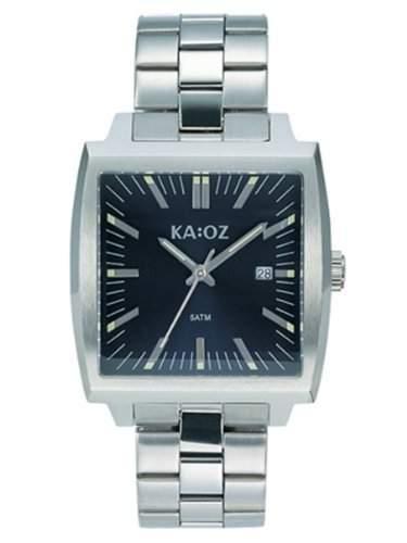 KA:OZ Herren - Armbanduhr Edelstahl 5 bar blau A44101-1S5I
