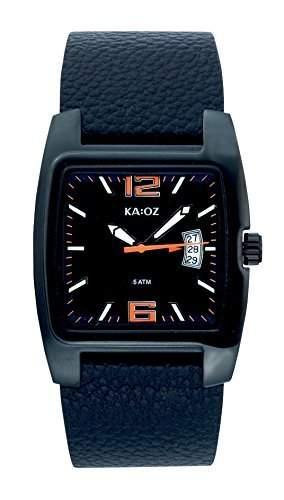 KA:OZ Herren - Armbanduhr Analog Quarz Leder Datum A4662S5I