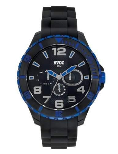 KA:OZ Herren - Armbanduhr Analog Quarz Big Silikon Schwarz A62111-1SS5I