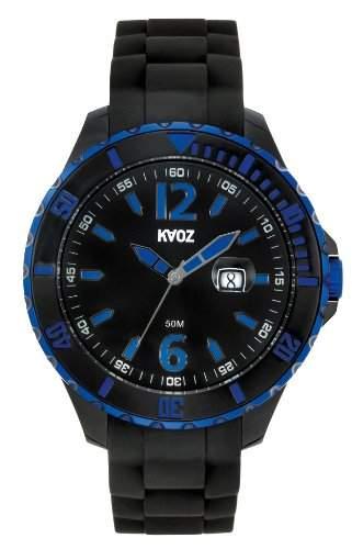 KA:OZ Herren - Armbanduhr Analog Quarz Big Schwarz Silikon A62109-1SS5I
