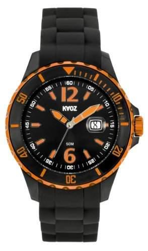 KA:OZ Herren - Armbanduhr Analog Quarz Kalender Ø 50 mm Schwarz Silikon A62110SS5I
