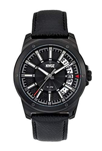KA:OZ Herren - Armbanduhr Analog Quarz 10 bar Kalender Schwarz A76168SS5I