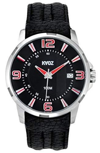 KA:OZ Herren - Armbanduhr Analog Quarz Leder Kalender 10 bar A76183S5I