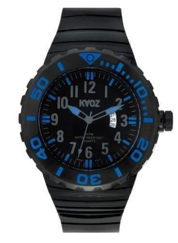 KA:OZ Herren - Armbanduhr Analog Quarz Kalender Silikon 5 bar A87101-3SS5A