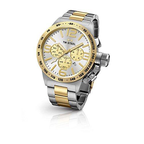 TW Steel CB34 Herren Kantine Edelstahl bicolor Armband Silber Zifferblatt Armbanduhr