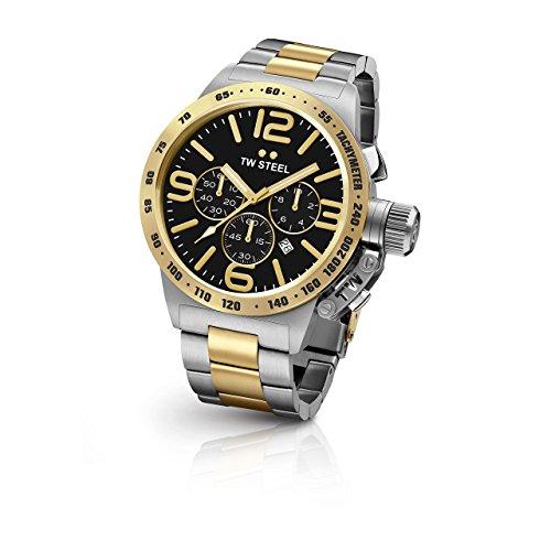 TW Steel CB44 Herren Kantine zweifarbigen Armband Band Schwarz Zifferblatt Armbanduhr