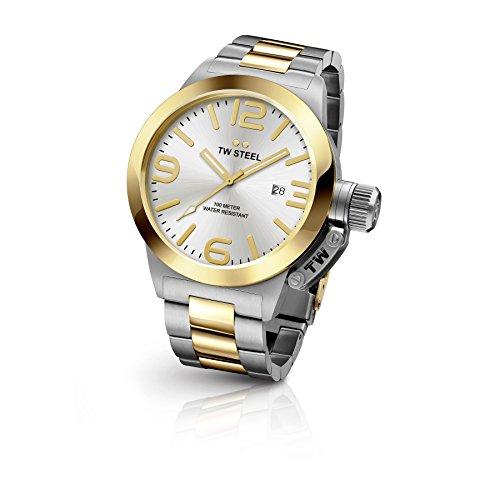 TW Steel CB32 des Herren Kantine Edelstahl Silber Armband Band Silber Zifferblatt Armbanduhr