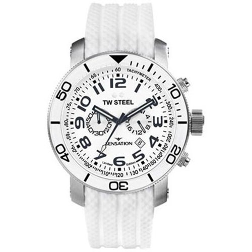 TW STEEL TW STEEL SENSATION 45MM WHITE MENS STAINLESS STEEL CASE UHR TW834
