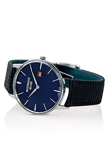 Watch Watchmaker Ambrogio Timeonly in Steel Dial Blue