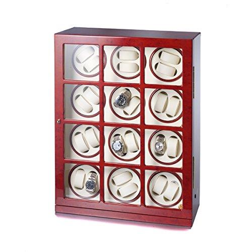 Uhrenbeweger Collector 24 Uhren Wurzelholz