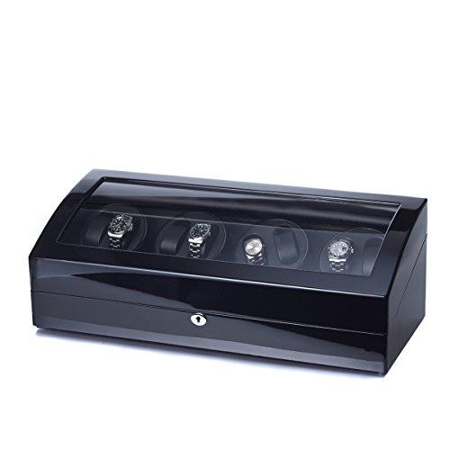Uhrenbeweger Eleganza 8 Uhren Klavierlack LED