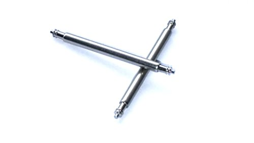 1 Paar Federstege spring bar Edelstahl Durchmesser 1 78mm 8 mm breit