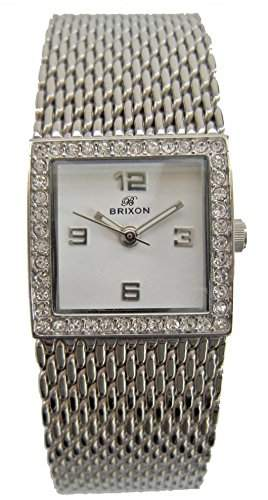 Brixon Damen-Armbanduhr Analog Quarz Edelstahl 6387