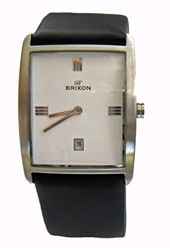 Brixon Herren-Armbanduhr Analog Quarz Leder 1049S