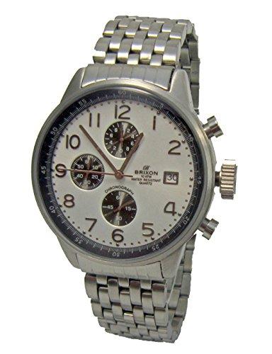 Brixon Herren Armbanduhr Chronograph Quarz Edelstahl 5009H