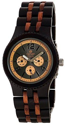 Gespannter Holz Uhren Jungen Herren Gespannter Vernon Sandelholz UEbergrosse Holz Armbanduhr Standard