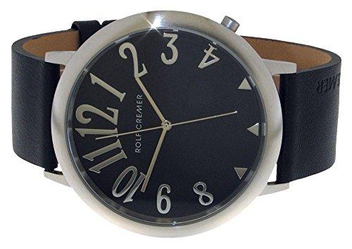 Jumbo II Uhr silberfarben schwarz