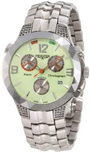 Swisstek Herren SK14614G Tungsten Alarm Chronograph Limited Edition Black Diamond Watch